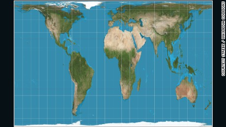 Why do western maps shrink africa cnn the peters projection maps areas in their actual sizes relative to each other but in gumiabroncs