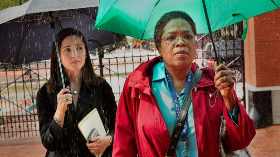 """Oprah Winfrey and Rose Byrne in """"The Immortal Life of Henrietta Lacks."""""""