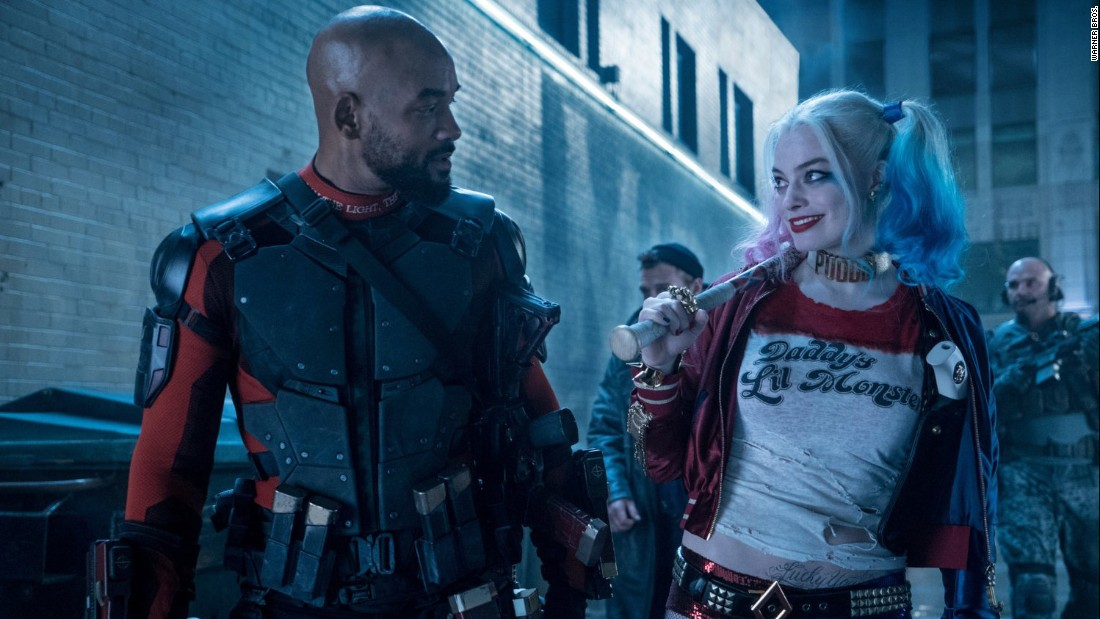 "<strong>""Suicide Squad"" : </strong>Will Smith and Margot Robbie are part of an ensemble cast in this comic book adaptation. <strong>(HBO Now)  </strong>"