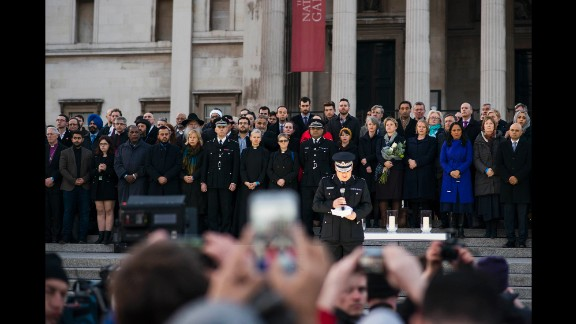 """Acting commissioner of London's police force Craig Mackey opens the vigil by thanking the crowd for coming """"to show the true nature of our city."""""""