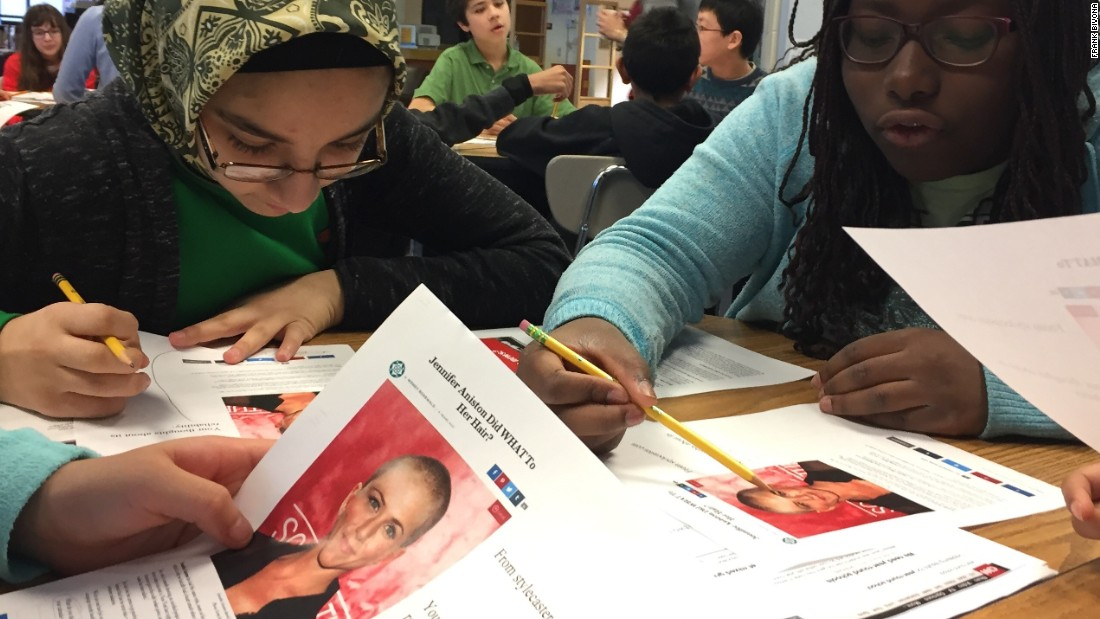 Reading Writing Fighting Fake News  Cnn Students At Clemente Middle School In Germantown Maryland Read A Madeup  Story