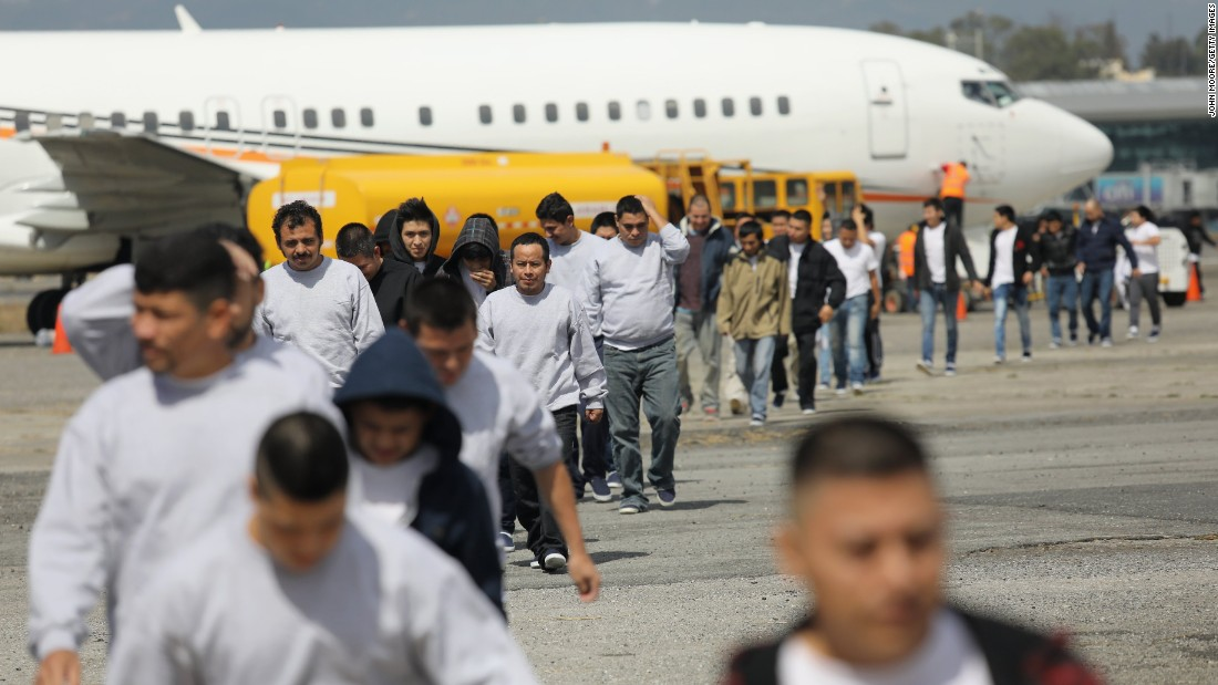 Immigrants Deported From The United States Arrive On An ICE Deportation  Flight On February 9,