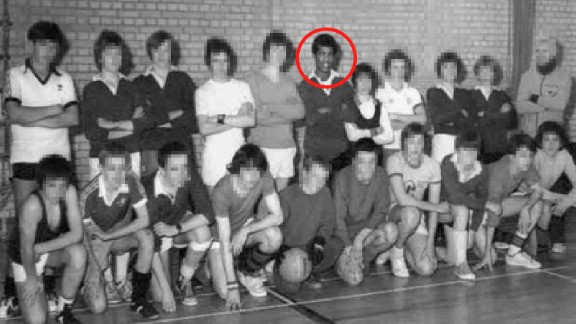 Khalid Masood, then known as Adrian Ajao, appears in a school photo with the soccer team.