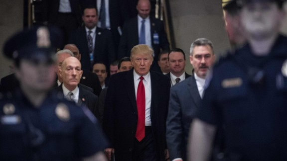 President Trump arrives to meet with House Republicans about the new health care legislation at the Capitol on Tuesday, March 21, just days before the bill collapsed.