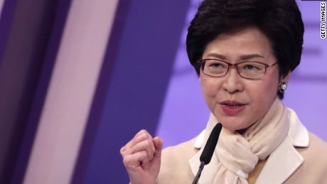 hong kong welcomes first female leader