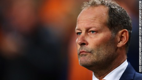 AMSTERDAM, NETHERLANDS - OCTOBER 10:  Manager / Head coach of the Netherlands, Danny Blind looks on during the FIFA 2018 World Cup Qualifier between Netherlands and France held at Amsterdam Arena on October 10, 2016 in Amsterdam, Netherlands.  (Photo by Dean Mouhtaropoulos/Getty Images)