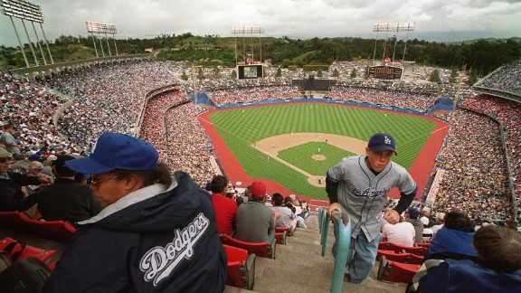 """Dodger Stadium in Los Angeles signaled the """"modern"""" era in building ballparks specifically for baseball. Built in 1962, it"""