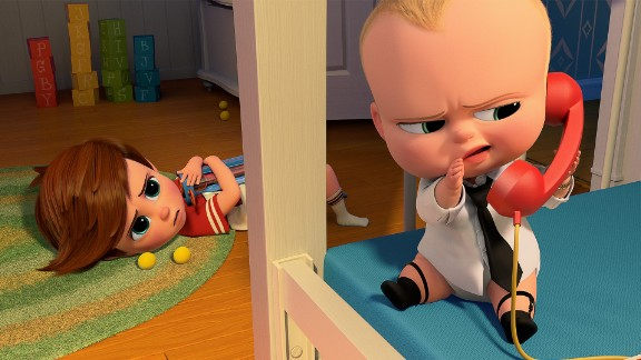 """Alec Baldwin voices a very bossy baby in """"The Boss Baby."""""""