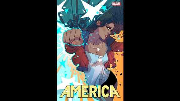"A variant cover of ""America"" #1 by Marguerite Sauvage"