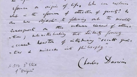 """A handwritten manuscript of Darwin's """"On the Origin of Species"""" is due to be sold Thursday at auction."""