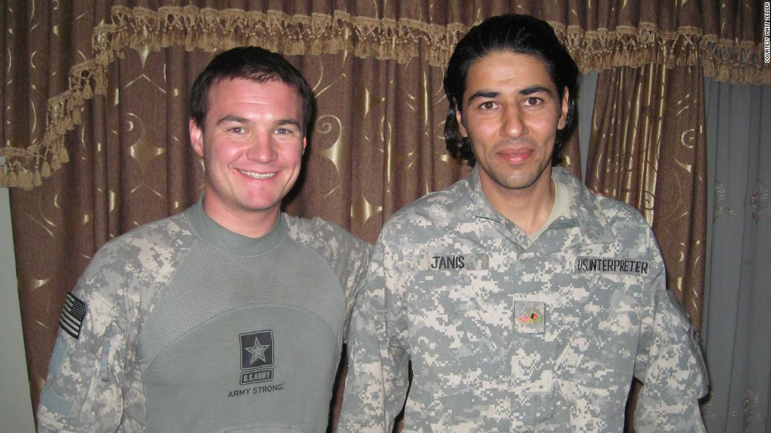 """After many trips to Iraq and Afghanistan I became one of many who were concerned about the plight of translators,"" says  <a href=""http://edition.cnn.com/profiles/michael-holmes-profile"" target=""_blank"">Holmes</a>. ""(They) had literally risked their lives working for the US military and media, and who were finding it extremely difficult to get one of the very few visas being made available to leave the country for the US for their own safety.""  <br /><br />""Matt Zeller, a US veteran whose translator saved his life in Afghanistan (Janis Shinwari, pictured right), has become a powerhouse of lobbying and action to deal with this major issue. Against major bureaucratic and political odds, his group, No One Left Behind, has managed to get thousands of translators and their families to safety, and continues to try to get thousands more out of Iraq and Afghanistan, where their lives are still at risk.""<br /><br />""He is a true inspiration and almost certainly his efforts and the efforts of his team have literally saved lives.""<br /><br /><a href=""/2017/03/30/politics/my-hero-michael-holmes-matt-zeller/index.html"" target=""_blank"">Discover more about Matt Zeller's story and an update on the prospects for Afghan visa applicants.</a>"