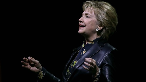 SAN FRANCISCO, CA - MARCH 28:  Former Secretary of State Hillary Clinton delivers a keynote address during the 28th Annual Professional Business Women of California conference on March 28, 2017 in San Francisco, California. Hillary Clinton delivered the keynote address at the day-long conference featuring speakers, seminars and panel discussions with industry leaders.  (Photo by Justin Sullivan/Getty Images)