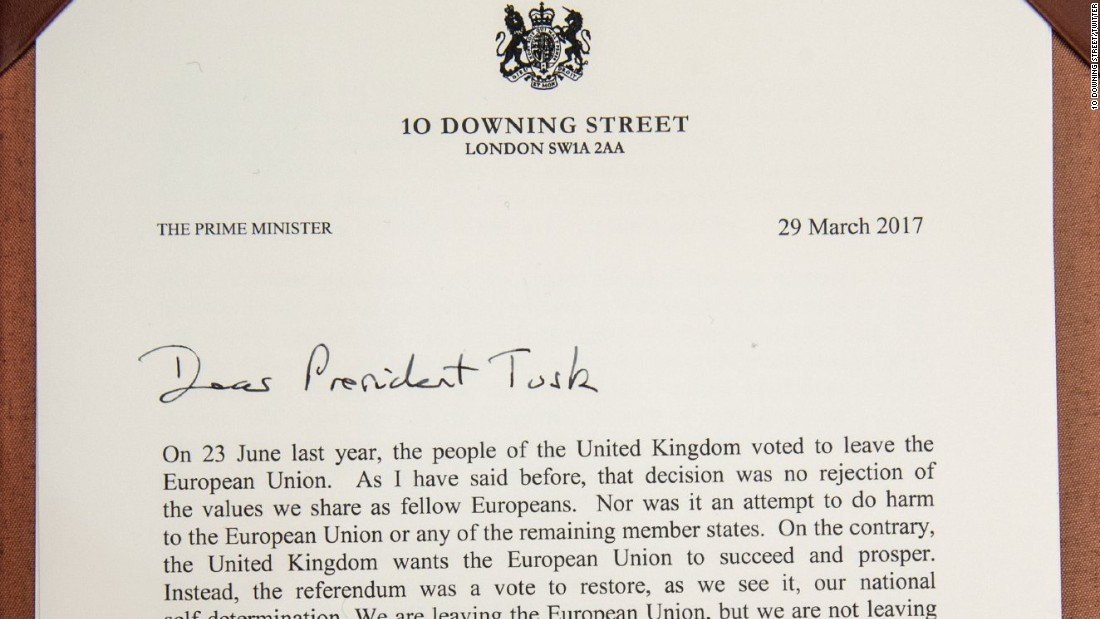 Image result for article 50 letter