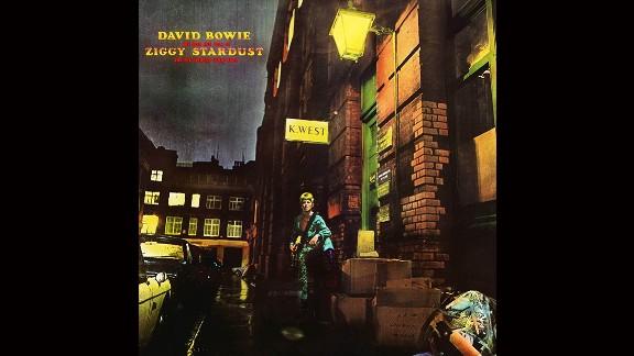 "David Bowie, ""Ziggy Stardust"" album cover."