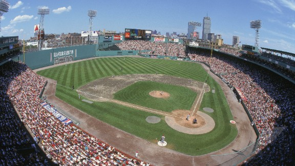 BOSTON - JUNE 20:  A general view of the baseball diamond taken during the All-Star Game at Fenway Park on June 20,1999 in Boston, Massachusetts. (Photo by: Al Bello /Getty Images)