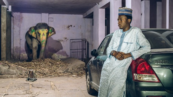 """""""I met them and spoke to them at length to try and  understand the gravity of the situation, the everyday racism that they face,"""" he said.   Pictured: Aminu from Bauchi, Nigeria pursues a B.A. in Economics from NIMS, Jaipur.  Photo courtesy of: Mahesh Shantaram"""