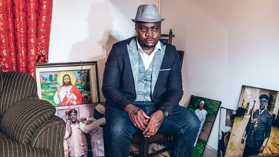 """In total he spent five months traveling across India taking photos of Africans, living in the country.  He amassed dozens of portraits and turned them into a photo series 'Racism: Africans in India.""""  Pictured: Samuel from Nigeria in Delhi  Photo courtesy of: Mahesh Shantaram"""