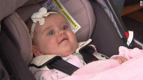 An 8-month-old baby was born with a serious heart defect.