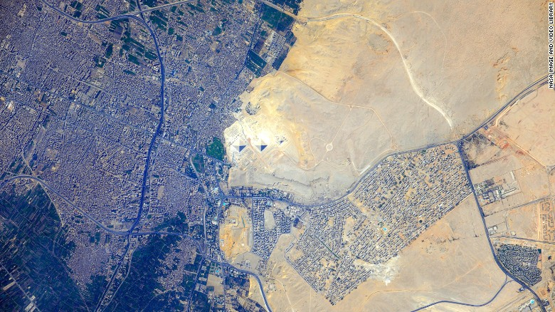 This is what africa looks like from space cnn the pyramids at giza can be seen in the center of this image taken from the gumiabroncs Images