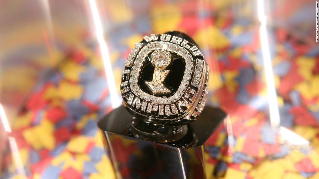 Here's Shaquille O'Neal's championship ring that he earned with the 2005-06 Miami Heat. It was the franchise's first title.