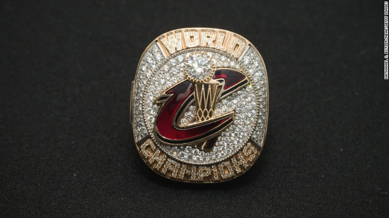 CLEVELAND, OH - OCTOBER 25:  Ring of the 2016 NBA Champions, Cleveland Cavaliers prior to the game against the New York Knicks on October 25, 2016 at at Quicken Loans Arena in Cleveland, Ohio. NOTE TO USER: User expressly acknowledges and agrees that, by downloading and/or using this Photograph, user is consenting to the terms and conditions of the Getty Images License Agreement. Mandatory Copyright Notice: Copyright 2016 NBAE (Photo by Nathaniel S. Butler/NBAE via Getty Images)