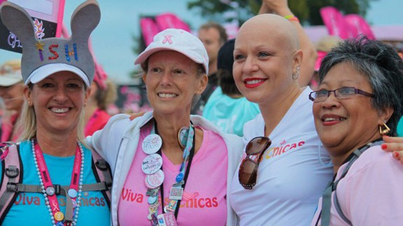 Amberlea Childs, third from the left, in treatment in St. Petersburg, Florida.
