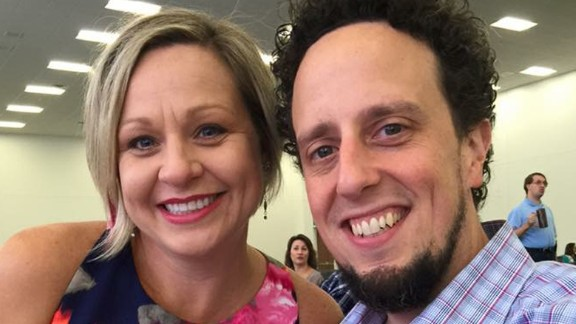 Amberlea Childs, with her husband Donny, last year.