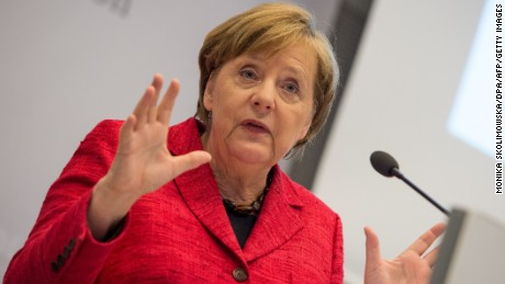 German Chancellor Angela Merkel is campaigning for re-election in September.