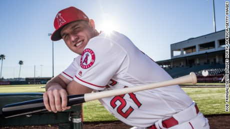 Mike Trout of the Los Angeles Angels in 2017.