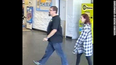 Surveillance images showed Cummins and his student at a Walmart in Oklahoma City on March 15.