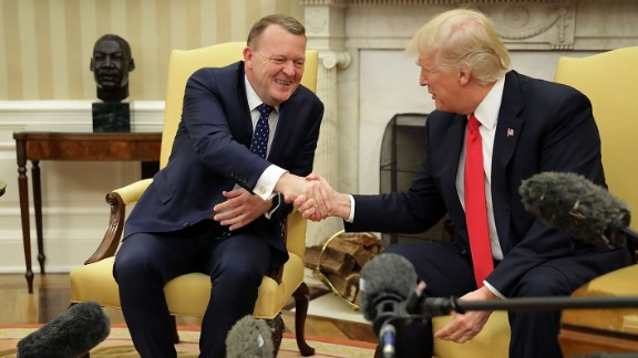 President Trump shakes hands with Danish Prime Minister Lars Lokke Rasmussen as Rasmussen visited the White House on Thursday, March 30. See last week in politics