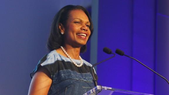 Former Secretary of State Condoleezza Rice speaks during the KPMG Women