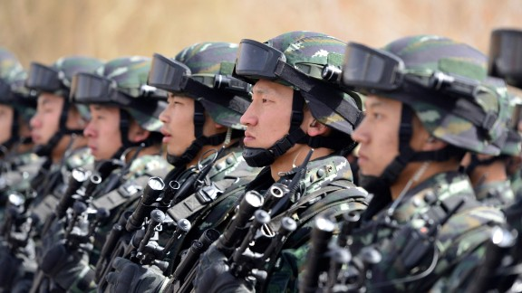 Chinese security forces in Xinjiang