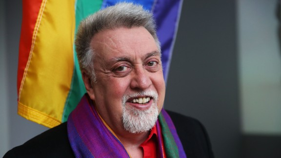 A vigil in San Francisco was being held to remember Gilbert Baker, shown last year.