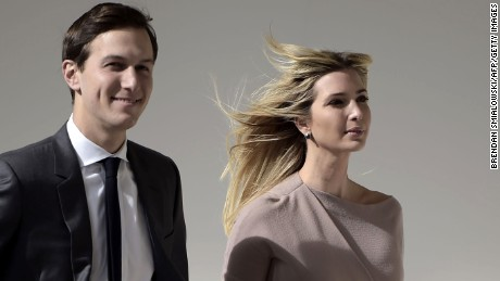 Ivanka Trump and her husband White House senior adviser Jared Kushner arrive for a joint press conference between US President Donald Trump and Japan's Prime Minister Shinzo Abe in the East Room of the White House in Washington, DC on February 10, 2017.