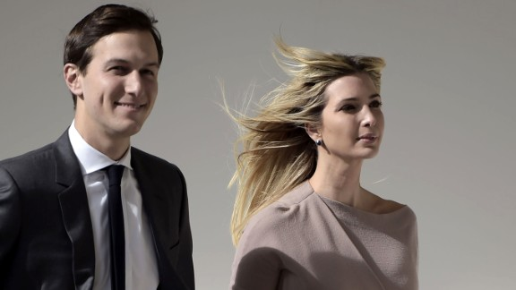 Ivanka Trump and her husband White House senior adviser Jared Kushner arrive for a joint press conference between US President Donald Trump and Japan