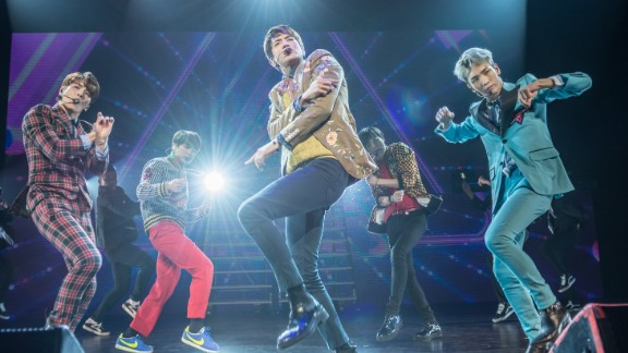 SHINee performing at the Verizon Theater at Grand Prairie in Dallas on March 24