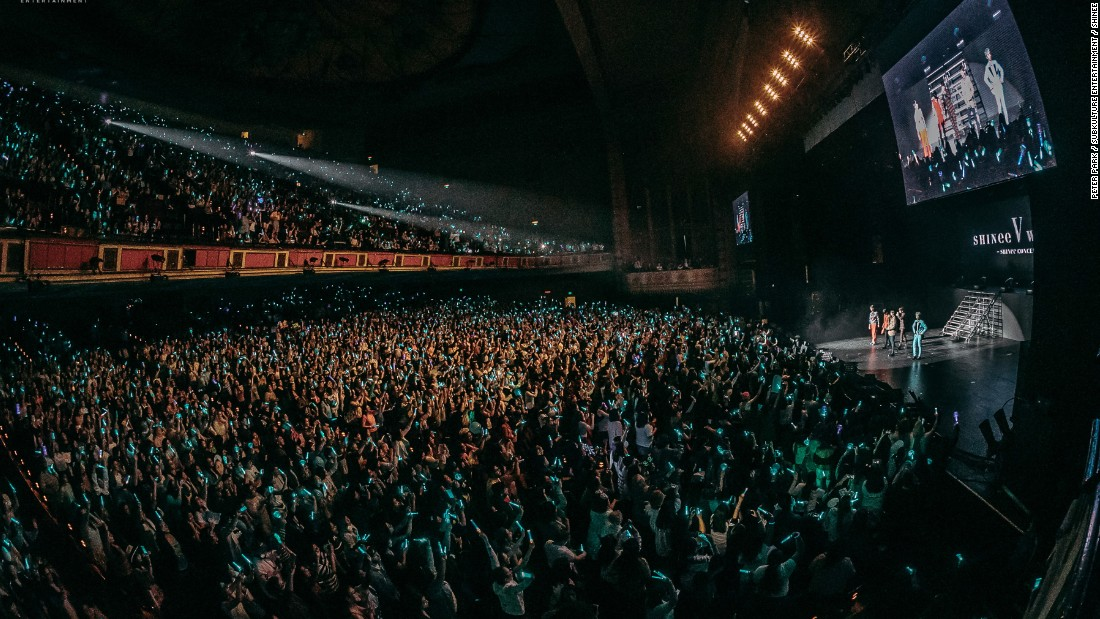 Los Angeles 'Shrine Auditorium during the SHINee concert