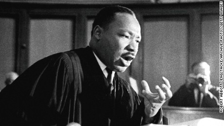"""The world now demands a maturity of America that we may not be able to achieve,"" Martin Luther King Jr. told a packed audience."