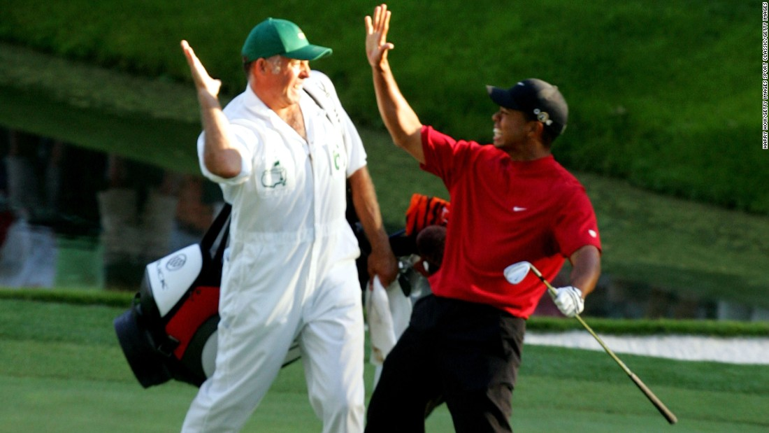 Woods's chip-in on the 16th hole  in 2005 has gone down in history as one of the greatest shots ever seen at the Masters.