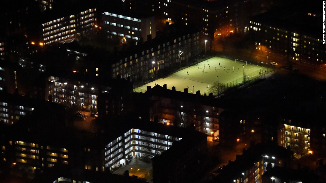 "People play nighttime soccer in London on Tuesday, March 28. <a href=""http://www.cnn.com/2017/03/27/sport/gallery/what-a-shot-sports-0328/index.html"" target=""_blank"">See 32 amazing sports photos from last week</a>"