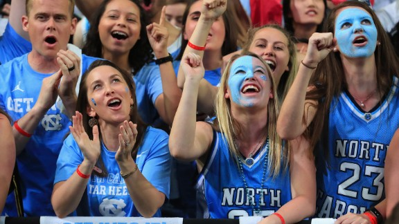 North Carolina fans show their support.