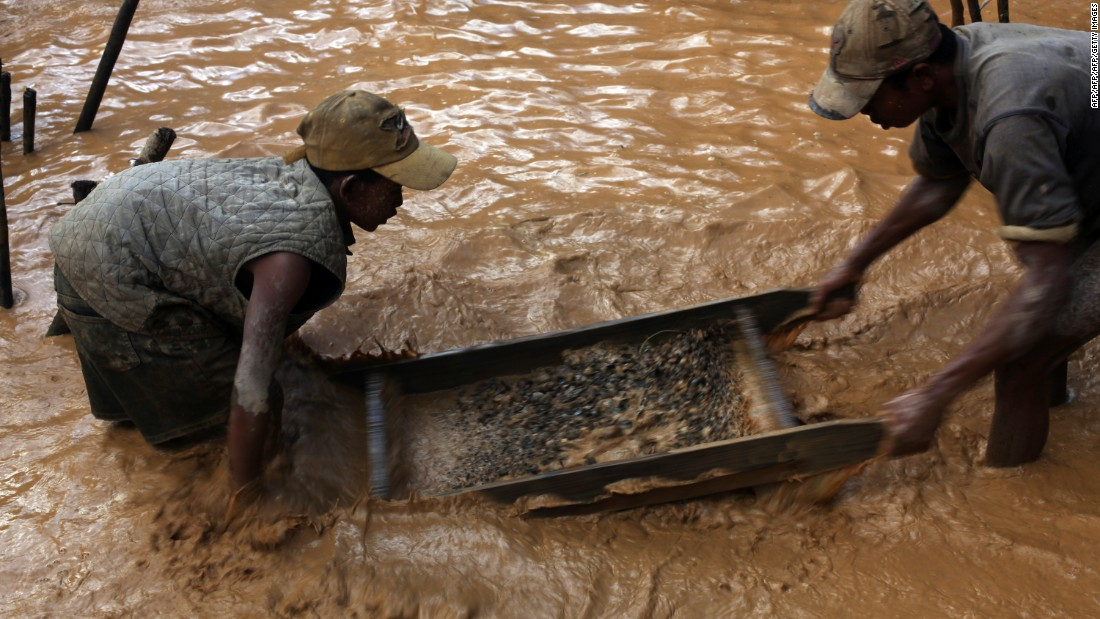 Miners use small-scale artisanal techniques to recover the stones. Approximately 50,000 miners have descended upon a new site in Ankeniheny-Zahamena.