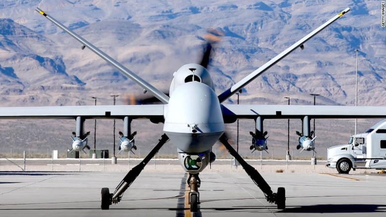 A MQ-9 Reaper military drone.
