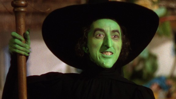 """In """"The Wizard of Oz,"""" the Wicked Witch of the West, played by Margaret Hamilton, vows to take revenge on Dorothy after her house kills a fellow witch."""