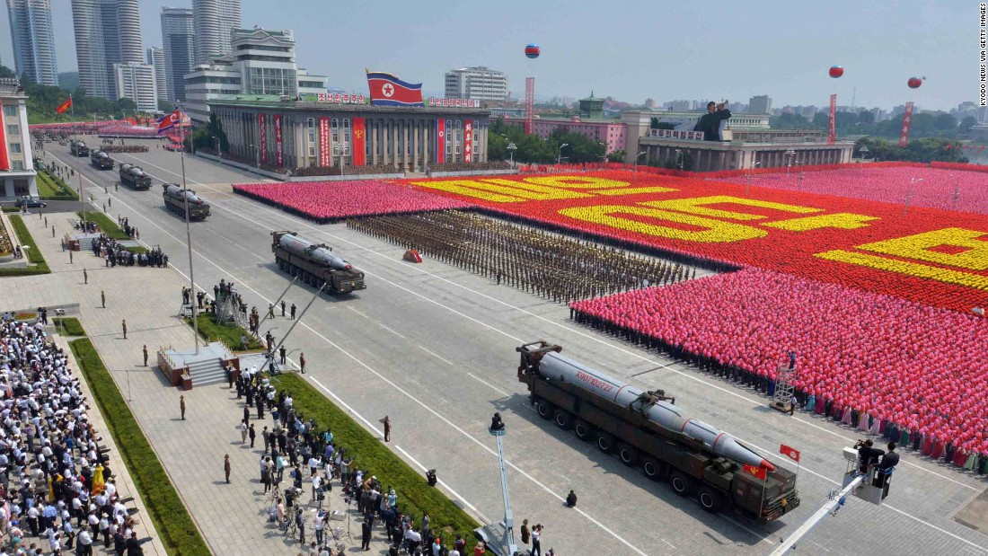 At a parade in Pyongyang in July 2013, North Korea shows off the KN-08, which it claims are road-mobile intercontinental ballistic missiles.
