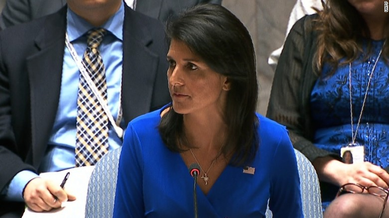 Haley at UN: Assad has no incentive to stop