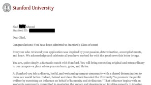 Student s into Stanford after writing BlackLivesMatter on