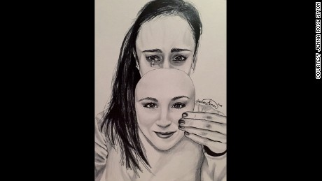 Artist's sketches convey struggles of eating disorder