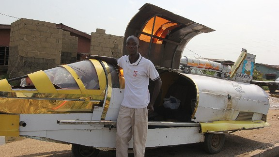 """It's been the dream of sci-fi enthusiasts and inventors for decades, but has this Nigerian man created a flying jet car that can dodge traffic? Kehinde Durojaiye, or """"Kenny Jet"""", is attempting to build an aero-amphibious jet car. He's driven it on sea and land. Now it's only the air that he has left to conquer.   Find out more about the potential of this flying car."""